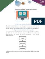 Guía Para La Producción Textual de Un Artículo de Opinión