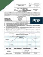 Certificado Teste Pressao