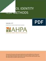 Ethanol Identity Test Methods