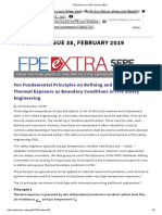 Ten Fundamental Principles on Defining and Expressing Thermal Exposure as Boundary Conditions in Fire Safety Engineering