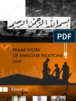 Frame Work of Employee Relation Law , Professional Practices , Lahore Garrison University