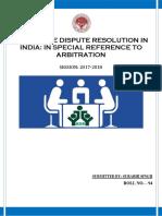 ALTERNATE DISPUTE RESOLUTION IN INDIA.docx