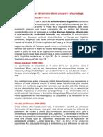 Principales Precursores Del Estructuralismo y Su Aporte a La Psicología