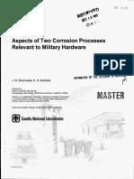 Braithwaite, J. W. & Buchheit, R. G._aspects of Two Corrosion Processes Relevant to Military Hardware (SANDIA REPORT, 1997)