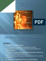 atencion de paciente quemado