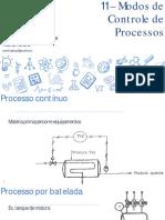 Instrumentação e Automação - 11 Modos de Controle de Processos