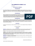 1992 Bono Vacacional, Acuerdo 742-92