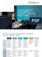Captial Project Management Capability Maturity Model (CMM)