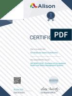 Alison Certificate 1412 13849119