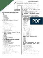 Examen Bimestral de Comunicacion 4ª Secundaria