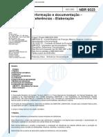 ABNT BR 6023 Referências