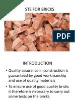 Tests for Bricks