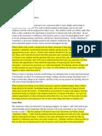 danielson domain 2 classroom culture plan