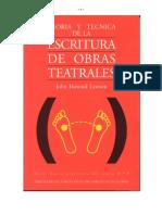 Teoría y técnica de la escritura de obras teatrales [Johm Howard Lawson].pdf
