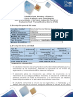 Guía de Actividad y Rúbrica de Evaluación -Pos Tarea Evaluación Final - (POA)