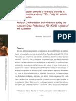 Confrontación armada y violencia durante la Gran Rebelión andina (1780-1783). Un estado de la cuestión