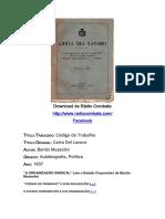 Carta Del Lavoro- Benito Mussolini