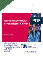 Gradient dependent homogenization