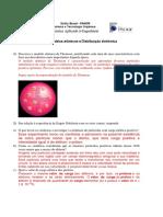 AP1 - Lista 01- Modelos Atômicos e Distribuição Eletrônica