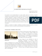 CEMENTERIO PARROQUIAL DE MAIPU
