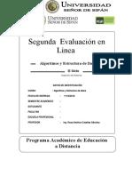 Algoritmos en Linea Ciclo II Segunda Evaluacion