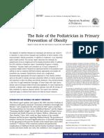 Role of Pediatricianin Obesity