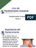1.- Importancia Del Mantenimiento Industrial (1)