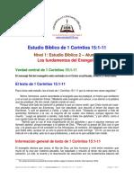 2. Los Fundamentos Del Evangelio [1 Cor 15-1-11] A