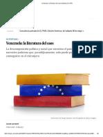 Venezuela_ La Literatura Del Caos _ Babelia _ EL PAÍS