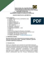 Silabo Matemática II 2019