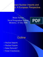 Pakistani Nuclear Imports and exports, a european perspective, Bruno Tertrais, Naval Postgraduate School, Monterey, 25 July 2006