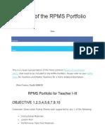 Anatomy of the RPMS Portfolio.docx