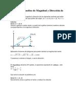 Ejercicios Resueltos de Magnitud y Dirección de Un Vector