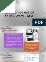 Creación de Estilos en MS Word - APA