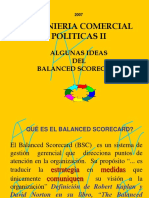 Algunas ideas del Balancec scorecard