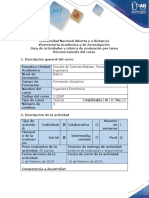 Guía de Actividades y Rúbrica de Evaluación - Pre Tarea - Reconocimiento Del Curso