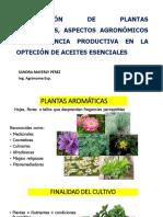 Propagación de Plantas Aromáticas, Aspectos Agronómicos y