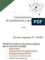Autorizaxiones de Instalaciones y Operadores TM UMayor2016