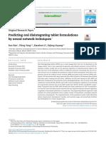 predicting oral desintegrating