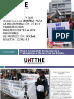 UNIÓN NACIONAL DE TRABAJADORASY TRABAJADORES A HONORARIOS DEL ESTADO DE CHILE