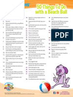 50 Things Beach Ball