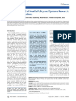 Building the Field of Health Policy and Systems Research