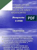 Proyecto Ley Ninez Adolescencia