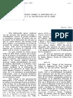 Bibliografía sobre la historia de la ciencia y la tecnología en el Perú- Marcos Cueto