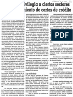 Consecomercio - Gobierno Privilegia a Ciertos Sectores en Financiamiento de Cartas de Credito - El Nacional 10.06.1989