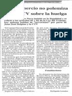 Consecomercio No Polemiza Con La CTV Sobre La Huelga - El Diario de Caracas 11.05.1989
