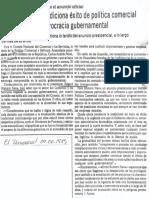 Edgard Romero Nava - Concecomercio Condiciona Exito de Politica Comercial a Cambios en La Burocracia Gubernamental - El Universal 04.06.1989