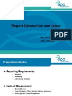 Report Generation and Issue