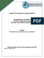 Portafolio de Evidencias. Probabilidad y Estadistica - Unidad 5