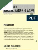 Buku saku Anion dan Kation